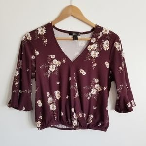 Streetwear Society cropped floral blouse